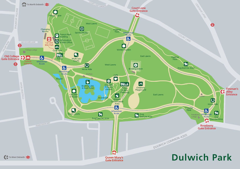 map_of_dulwich_park