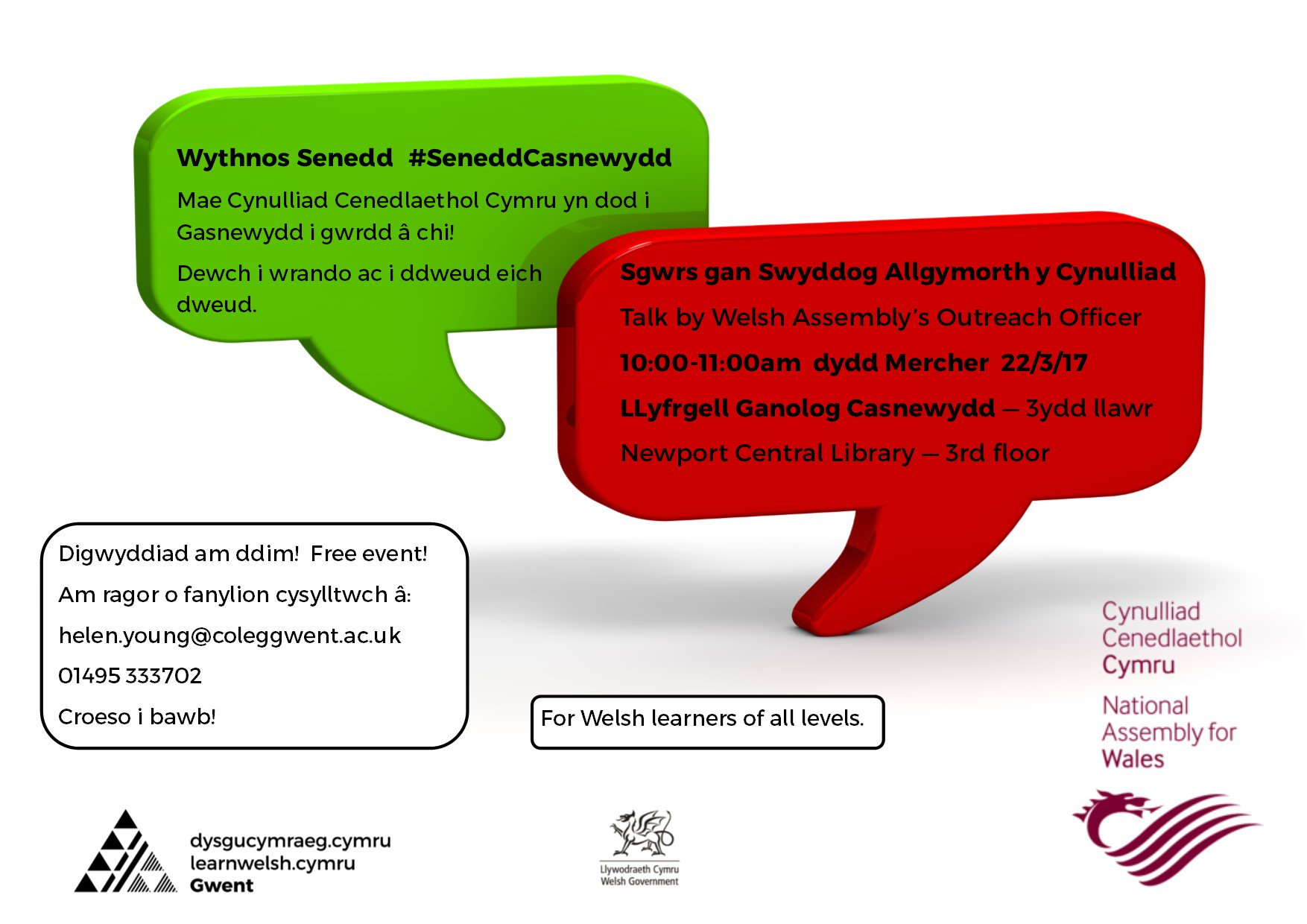 Newport Talk By The Welsh Assemblys Outreach Officer 22 March